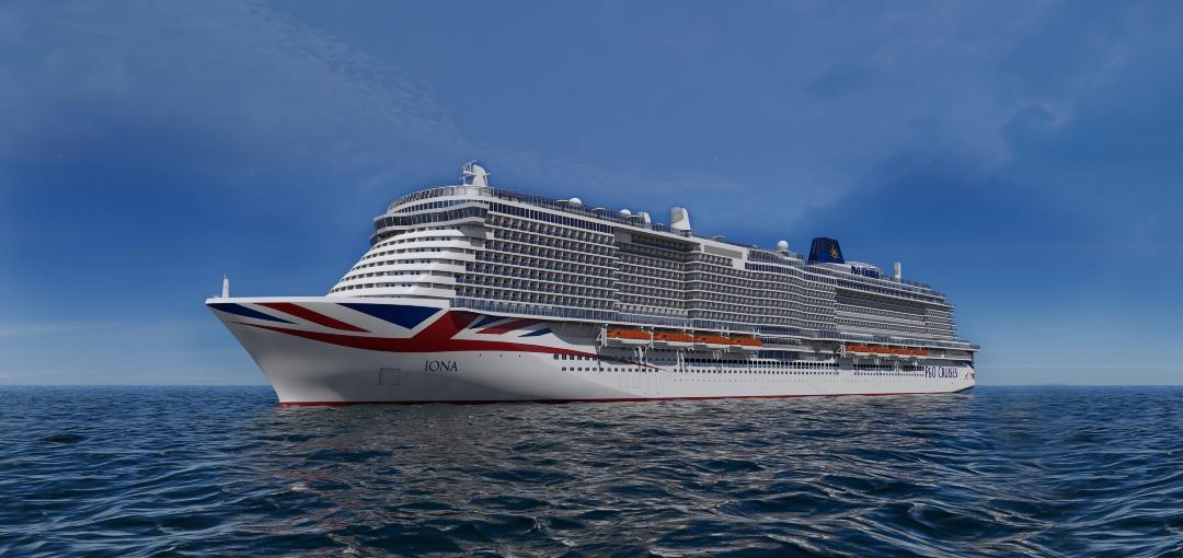 She's a whopper! Britain's Biggest Ship Iona Sails Into P&O Cruises' fleet