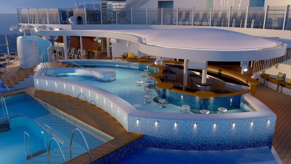 Sneaky peek at P&O Cruises' new ship Arvia – a sunshine resort at sea!